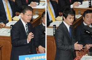 予算委員会集中審議の質疑に立つ長妻昭、小川淳也両議員