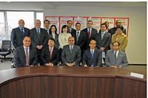 輿石幹事長、駐日アラブ外交団による表敬を受け、意見交…
