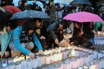 福島県庁前広場のキャンドルナイト