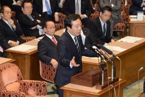 就任後3回目となる党首討論に臨んだ野田総理