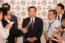 党の主要な役員人事を発表する野田代表