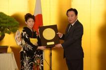 吉田選手に国民栄誉賞を授与