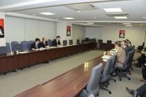 北朝鮮によるミサイル発射問題を協議する党幹部