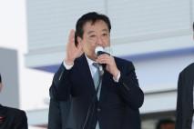 JR浦和駅前で街頭演説を行った野田代表