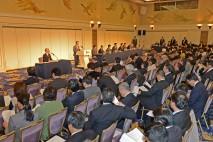 代表選実施について提案する江田中央代表選管委員長