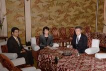 3党での会談に臨む櫻井政調会長