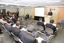 党創生本部勉強会であいさつする海江田代表
