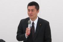 民主党春期インターンシップで細野幹事長が講演