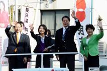 海江田代表、荒川・墨田・足立・葛飾区で演説 人を重視…