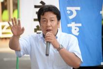 国分寺駅南口で街頭演説する枝野幸男元内閣官房長官
