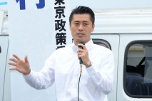 蒲田駅頭で訴える細野幹事長