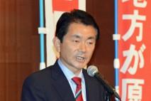 政策を熱く訴える野田くによし総支部長
