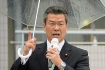 滋賀県守山市で街頭演説を行う馬淵澄夫幹事長代行
