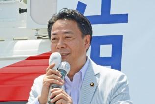 衆参のねじれこそ強権政治への歯止めだと訴える海江田代表