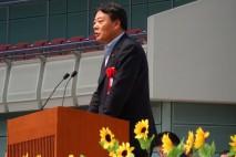 海江田代表が来賓のあいさつ