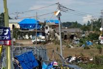 野田市の竜巻被害現場を視察