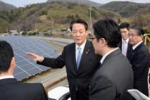 海江田代表、島根県を訪問 太陽光発電施設を視察し県連…