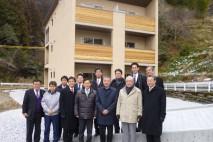 日本初のCLT構造躯体を用いた社員寮を視察