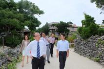 竹富島重要伝統的建物群保存地区を視察