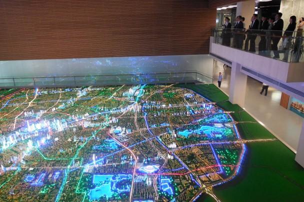 天津市中心部の模型