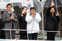 岡田代行、枝野幹事長、福山政調会長
