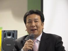 講演する枝野幹事長