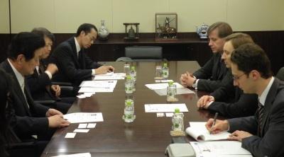 2010/3/25ロシア国家院議員、党本部を表敬訪問